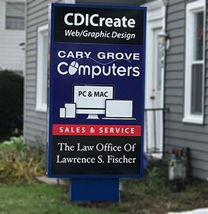 Cary Grove Computers Sign