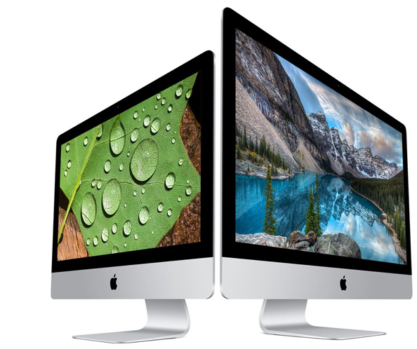 iMac computers back to back